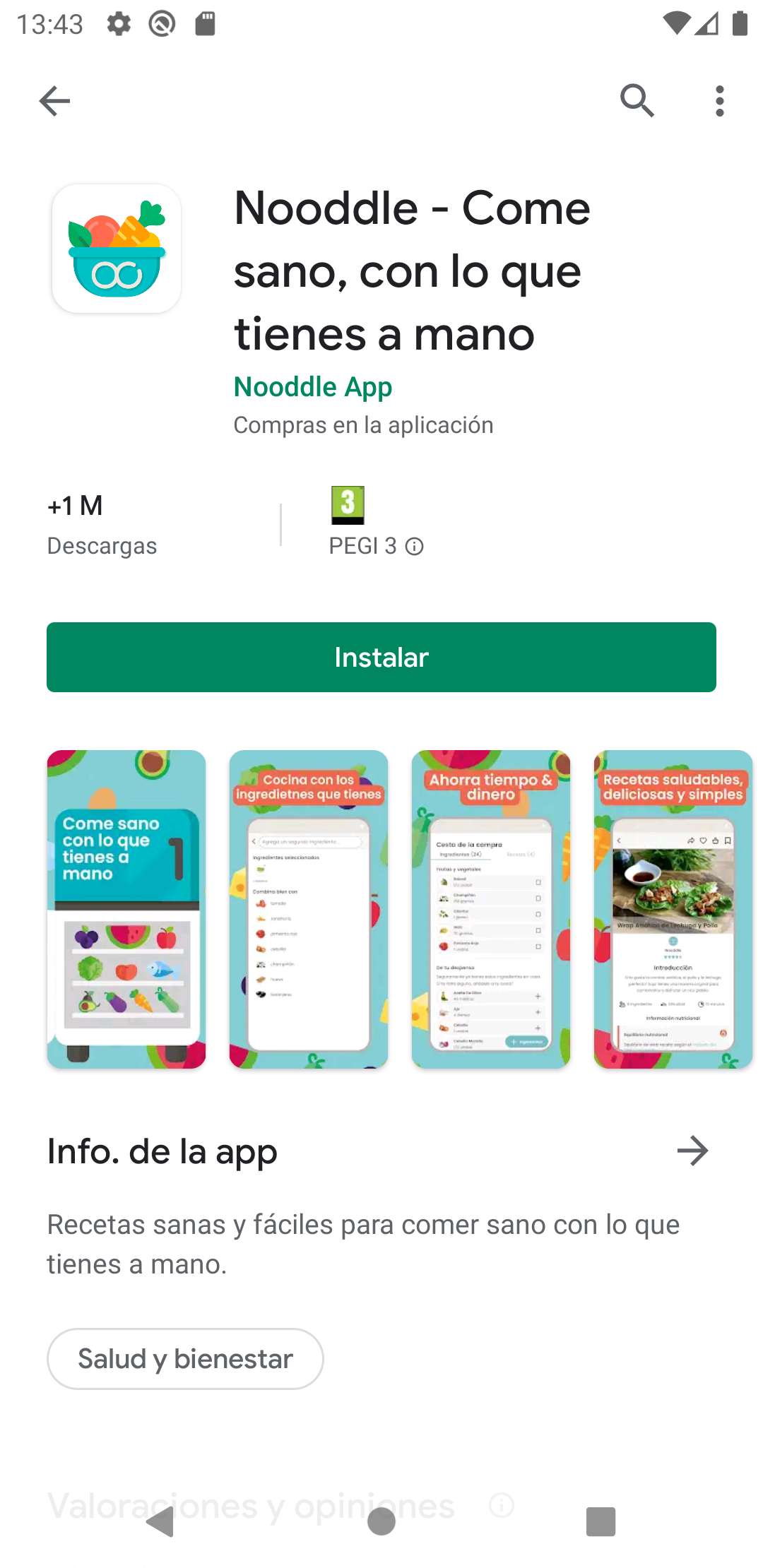 Nooddle App Android ASO